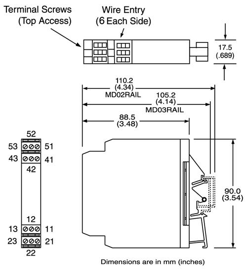 ACTION INSTRUMENTS ULTRA SLIMPAK G108-0001 DC INPUT FIELD CONFIGURABLE LIMIT ALA