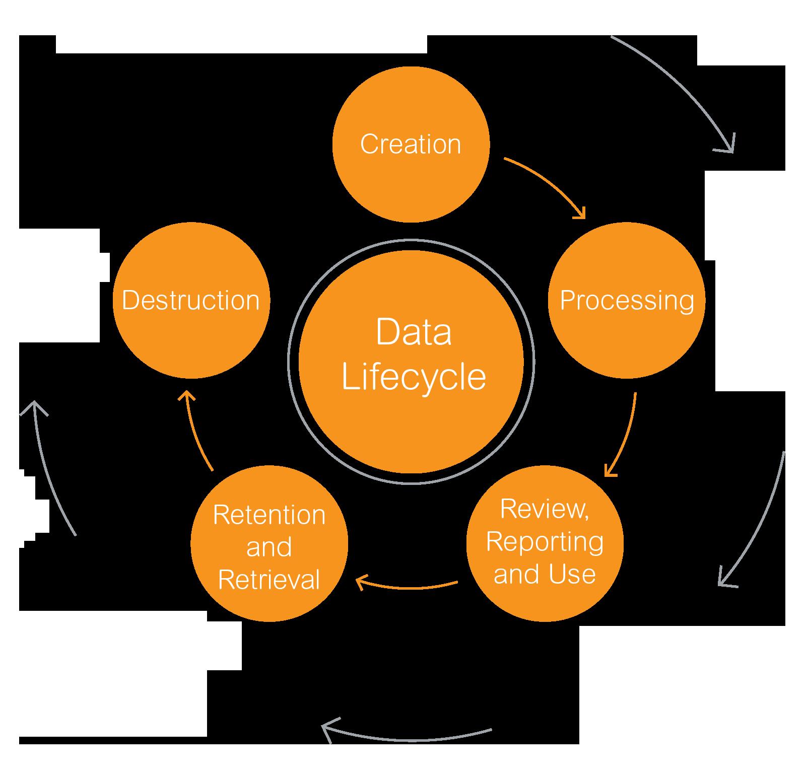 Data life cycle diagram